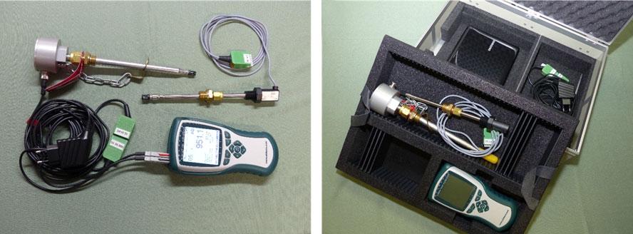 Druckluft Messkoffer thermische Sonde