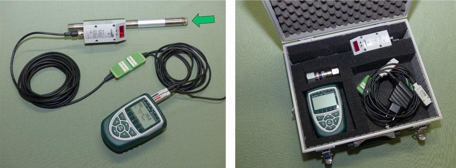 Druckluftmesskoffer Inline Sensor